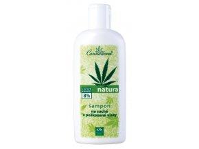 Natura šampón na suché a poškodené vlasy - Cannaderm