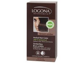 Prášková farba na vlasy - hnedá umbra LOGONA
