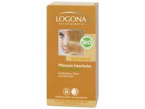 Prášková farba na vlasy - zlatá blond LOGONA