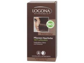 Prášková farba na vlasy - prírodná hnedá LOGONA