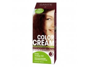 Krémová farba na vlasy Mahogany Brown - Sante