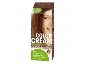Krémová farba na vlasy Cocoa Brown - Sante