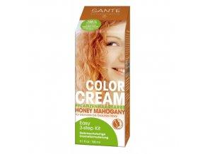 Krémová farba na vlasy Honey Mahogany - Sante