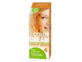 Krémová farba na vlasy Cognac Blonde - Sante