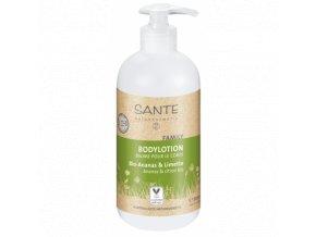 Telové mlieko BIO ananás a citrón - Sante