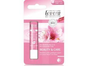 Balzam na pery Ružový Beauty & Care - Lavera