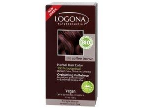 Prášková farba na vlasy - Coffee brown LOGONA