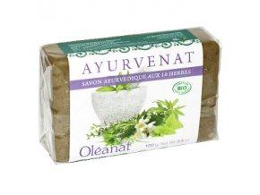 BIO Ajurvédske mydlo s 18 bylinami - Oléanat