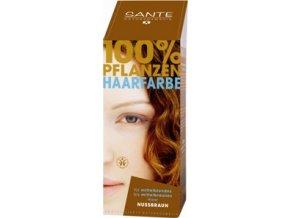 Sante prášková farba na vlasy - orieškovohnedá