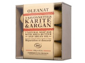 BIO rastlinné mydlá s bambuckým maslom karité  a argánovým olejom- Oléanat