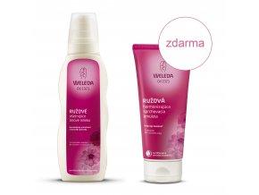 Ružové ošetrujúce telové mlieko ruzova sprchovacia emulzia