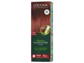 kremova farba na vlasy vinovocervena logona 2