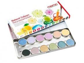 prirodne vodove farbicky 12 farieb memo