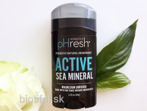 prirodny bio deodorant Natural prebiotic honestly phresh mens active sea mineral