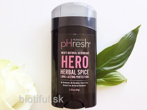 prirodny bio deodorant Natural prebiotic honestly phresh mens hero herbal spice