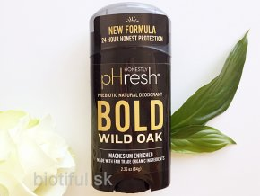 prirodny bio deodorant Natural prebiotic honestly phresh mens bold wild oak