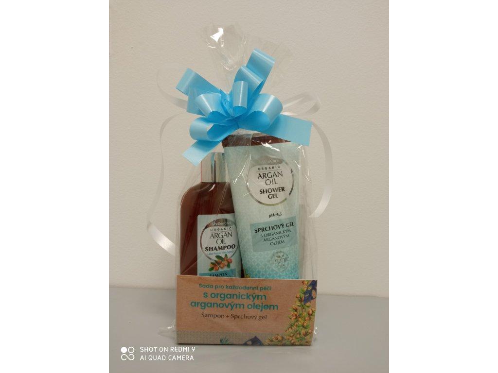 Dárková sada šampon a sprchový gel - arganový olej (2 x 250 ml)