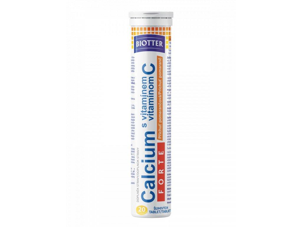 Biotter Calcium s vit. C FORTE pomeranč