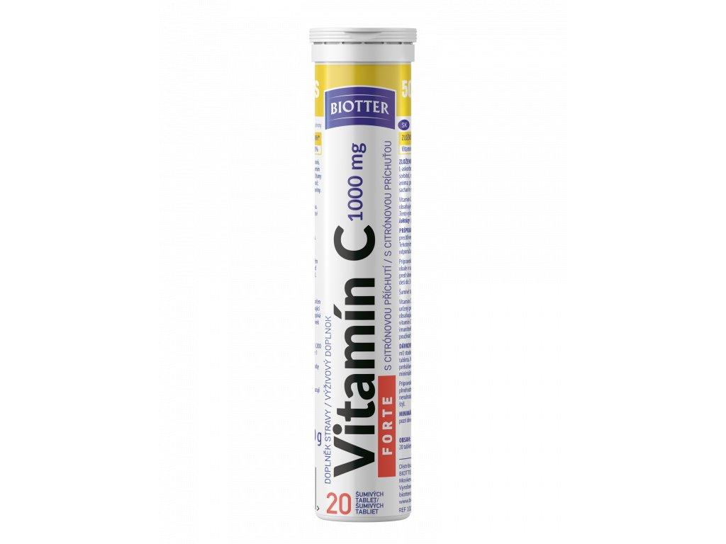 Biotter Vitamín C FORTE šumivé tablety 20 ks nové