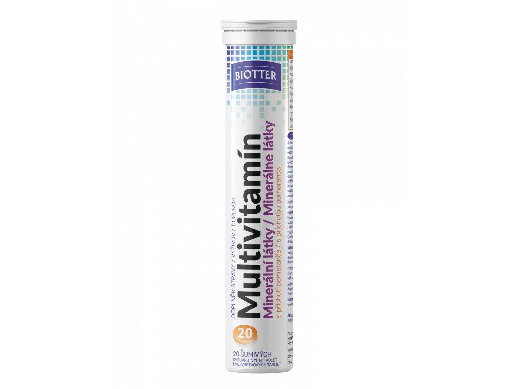 Biotter Multivitamín šumivé tablety 20 ks nové