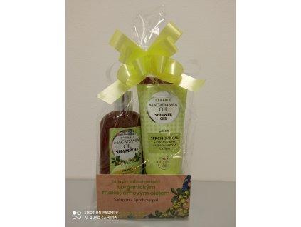 Dárková sada šampon a sprchový gel - makadamový olej (2 x 250 ml)