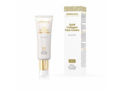 gold collagen face cream night en