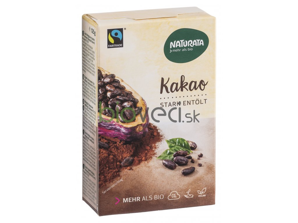 126 1 naturata kakaovy prasok silne odolejovany 125g