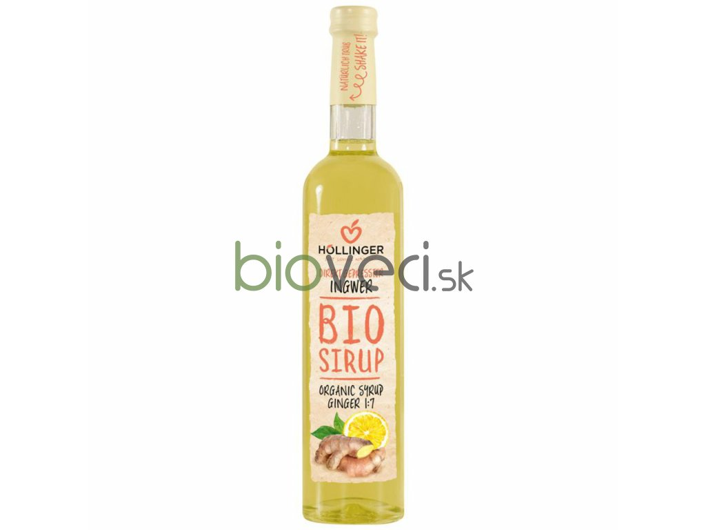 bio potraviny bioveci Bio zázvorový sirup 0,5l