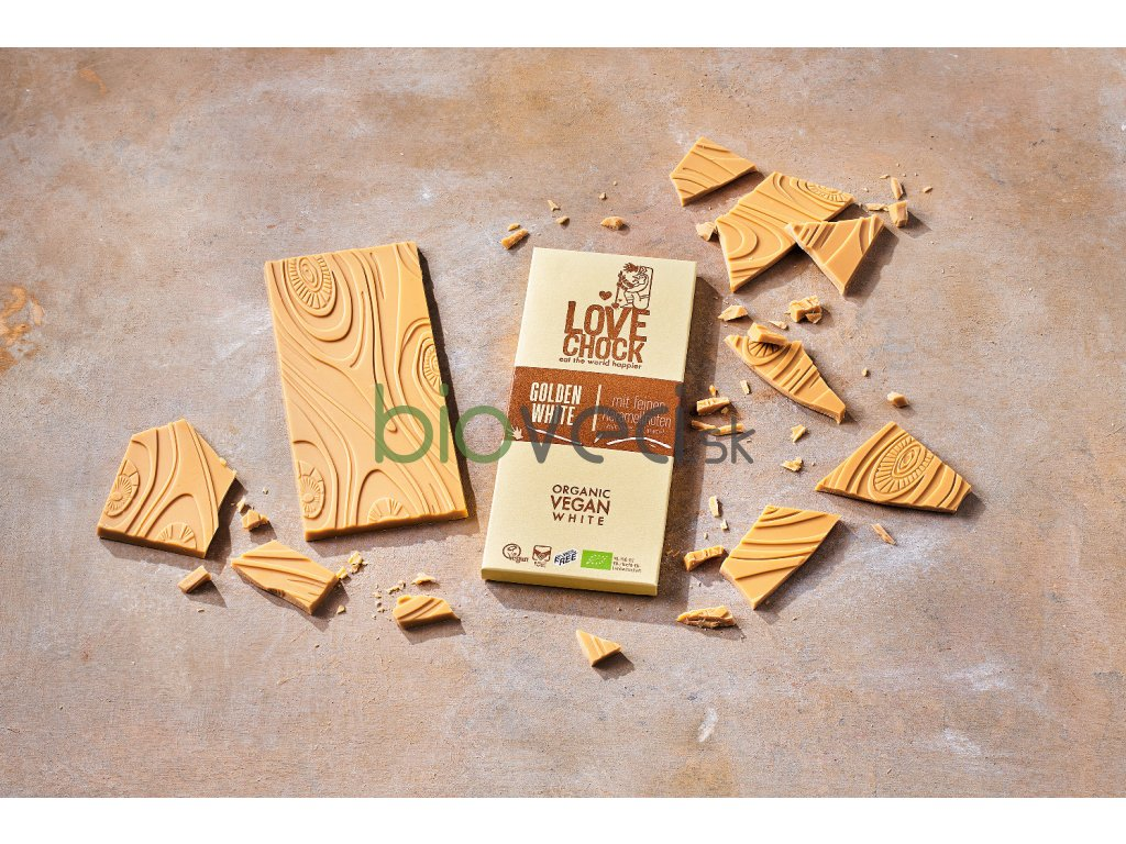 2934 love choc raw biela cokolada 70g vegan