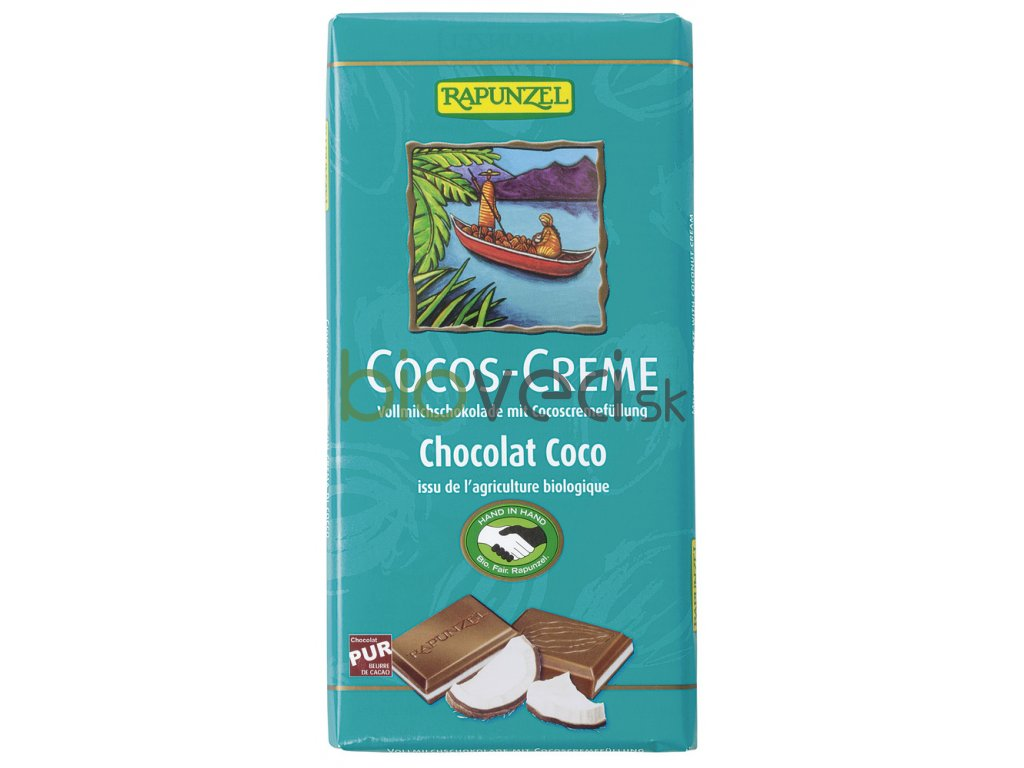 3093 rapunzel kokosova kremova cokolada modra 100g vegan