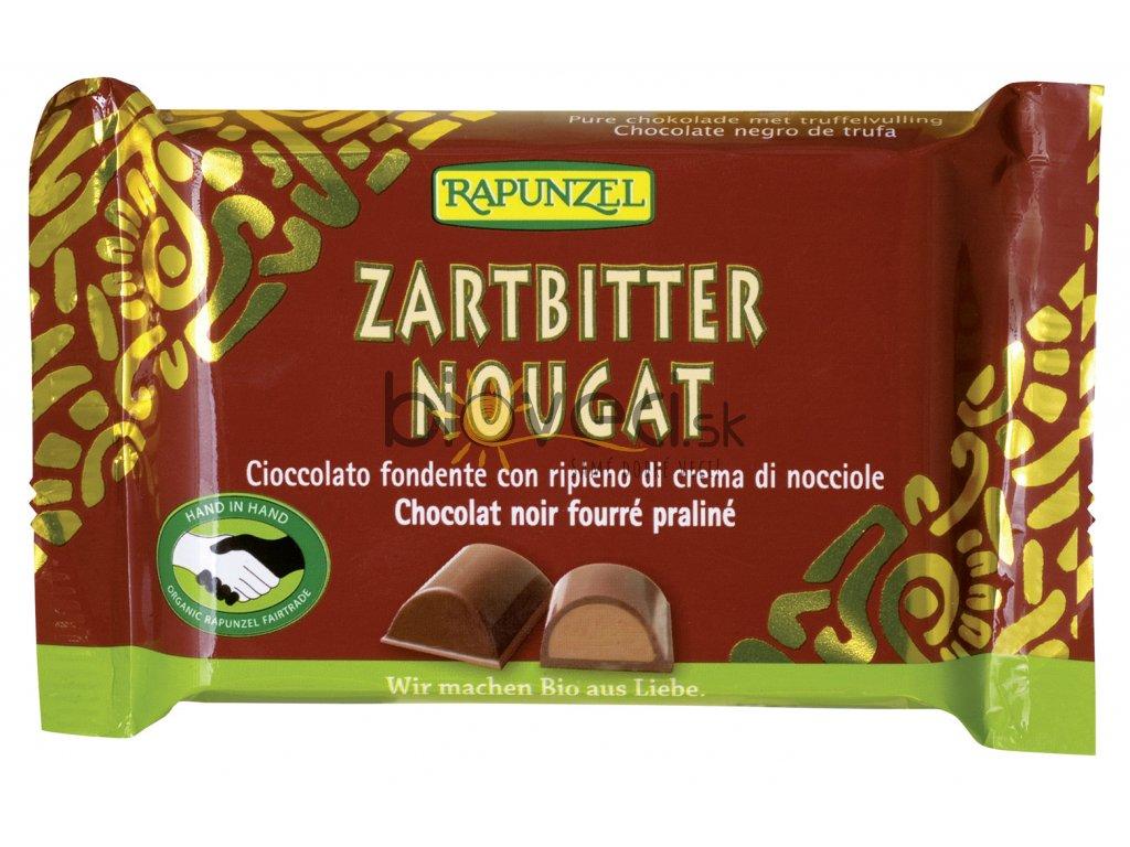 3507 rapunzel nugatova cokolada tmava hneda 100g