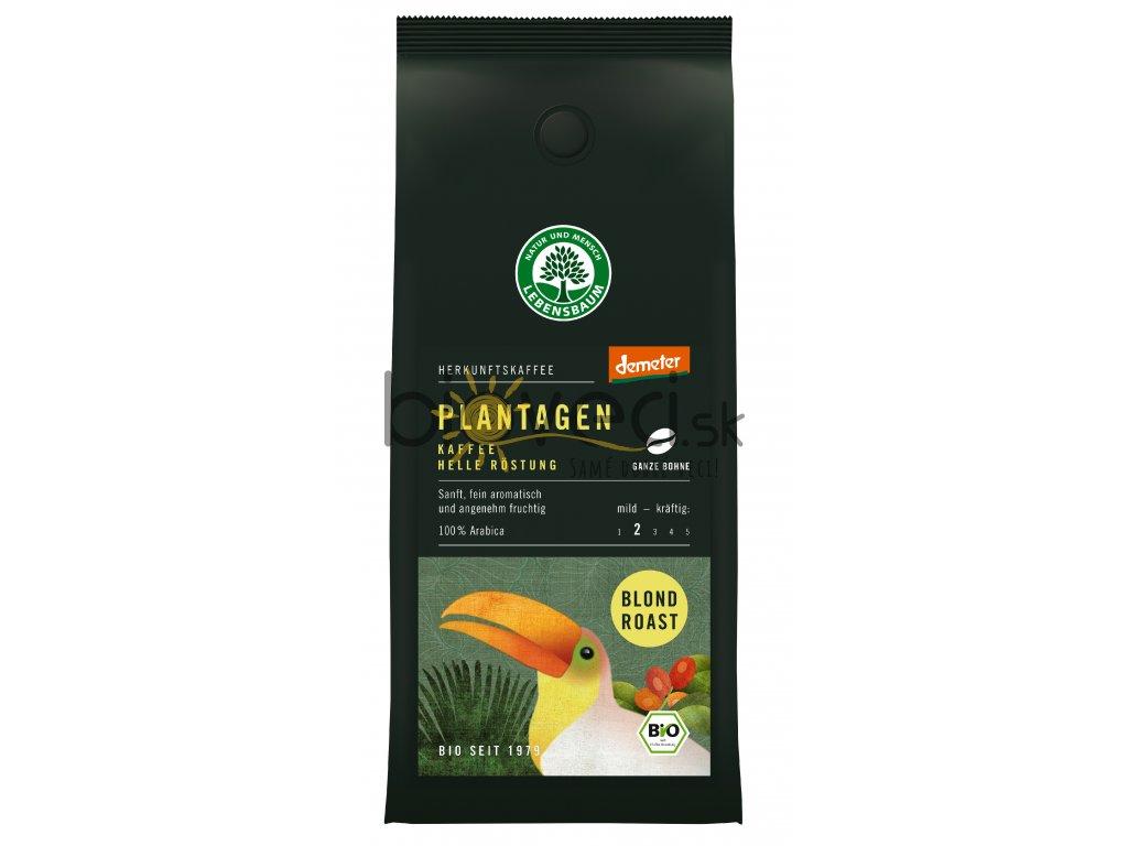 372 plantagen kava blond prazene zrna 250g