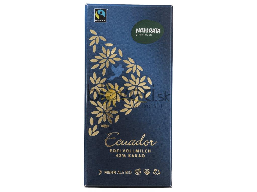 4224 naturata mliecna cokolada ekvador 42 100g