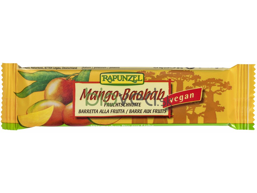 Ovocná tyčinka mango baobab 40g