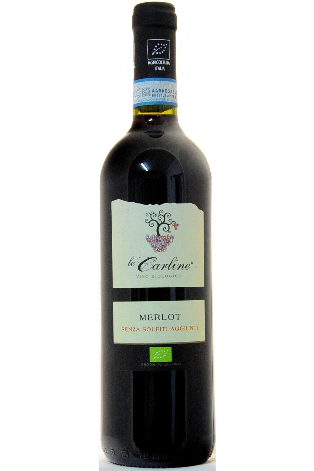 Le Carline Merlot NO SULPHITES DOC Lison Pramaggiore 2014 F