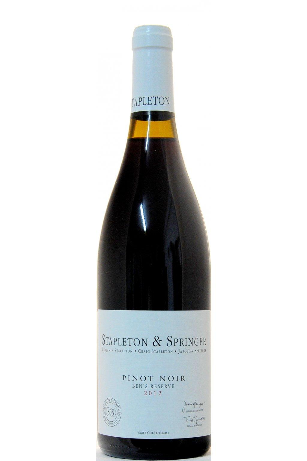 Pinot Noir 2012 Bens Reserve F