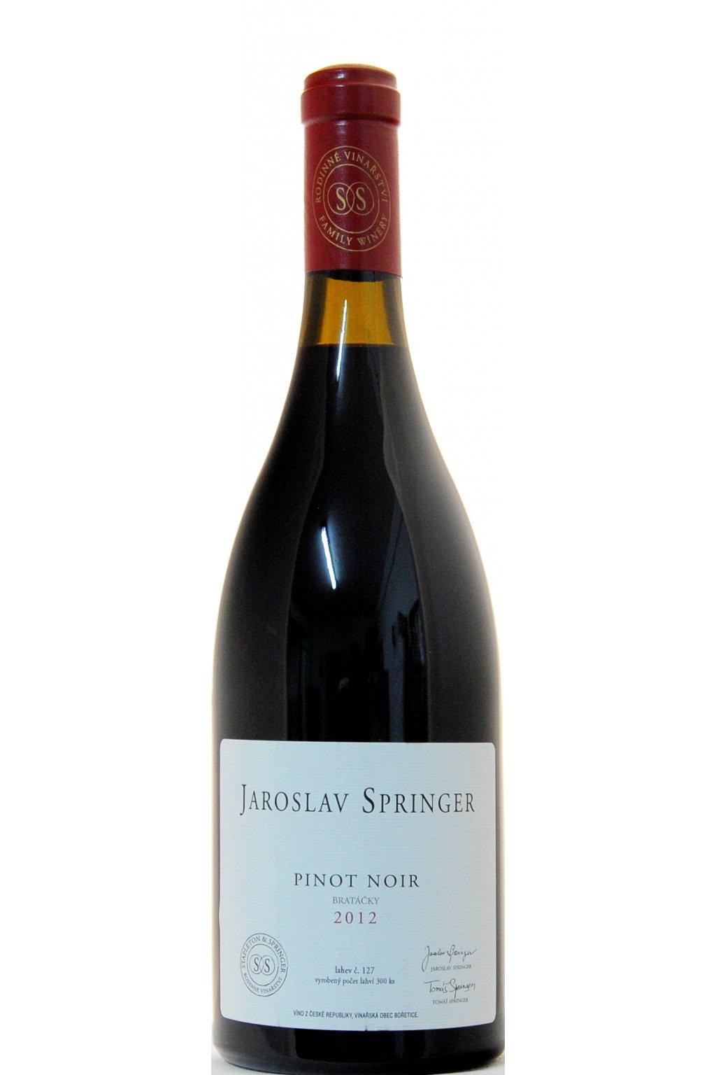 Pinot Noir 2012 Bratacky F