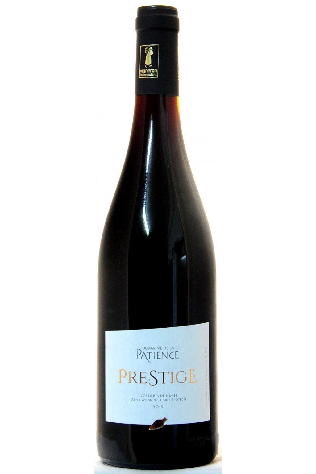 PATIENCE AOPCostieres de Nimes rouge Cuvee Prestige 2019 F