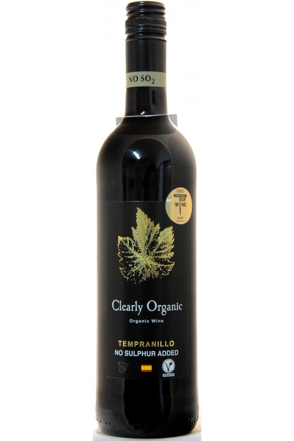 Clearly Organic Tempranillo No Sulphur 2019 F