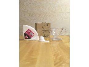 Hario set dripper + filtry V60-02