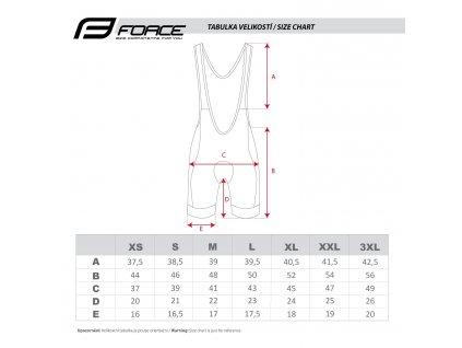 cyklistické kalhoty force b42