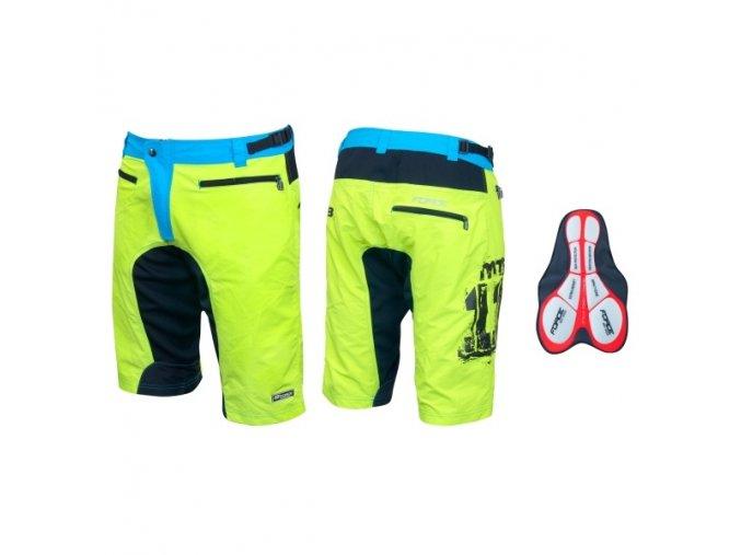 cyklistické kalhoty force mtb-11 fluo