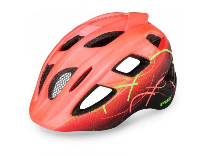 Dětská helma R2 Bondy neon červená