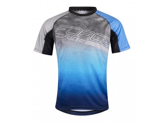 dres Force Core šedo modrý