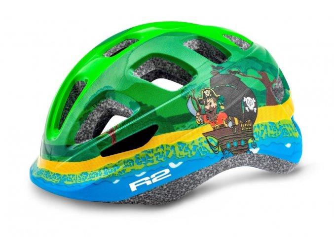 Dětská helma R2 Bunny zeleno-modrá