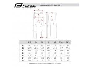 cyklistické kalhoty force z68