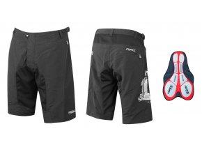 cyklistické kalhoty force mtb-11 černé