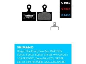 brzdové destičky galfer shimano FD496
