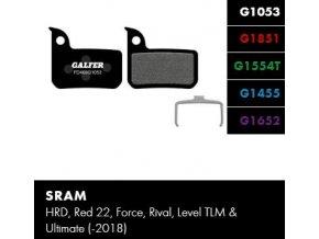 brzdové destičky galfer sram fd469