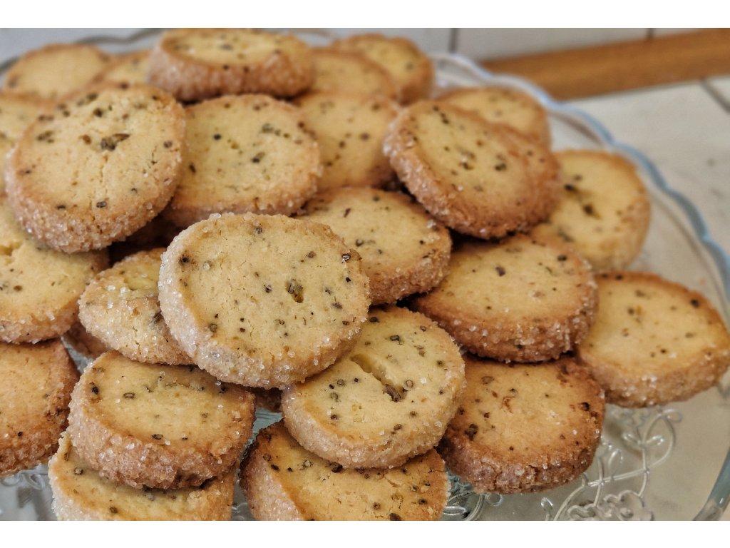 Citronová sušenka s levandulí